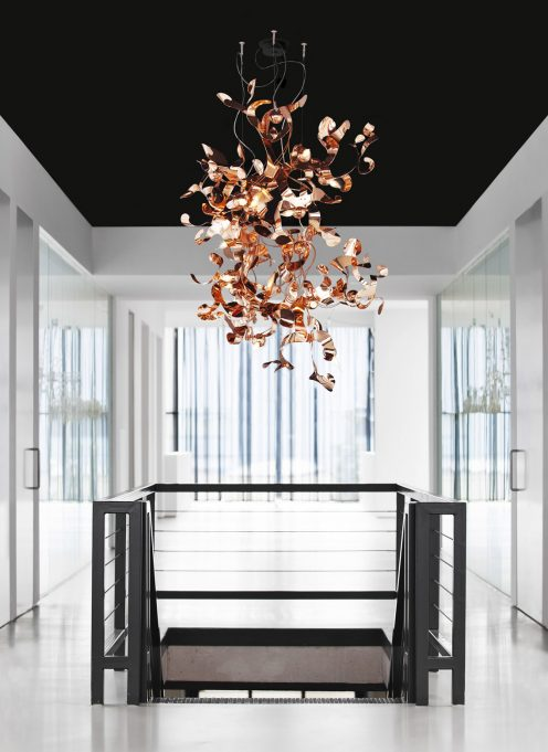 custom lighting design and bespoke modern chandeliers for exclusive interior design projects and ideas