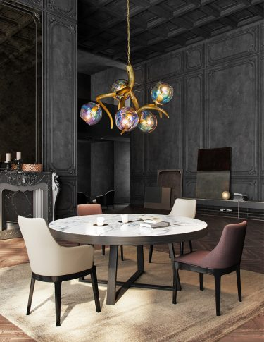 modern designer chandelier dining room from contemporary lighting collection brand van egmond for exclusive interiors and luxury homes