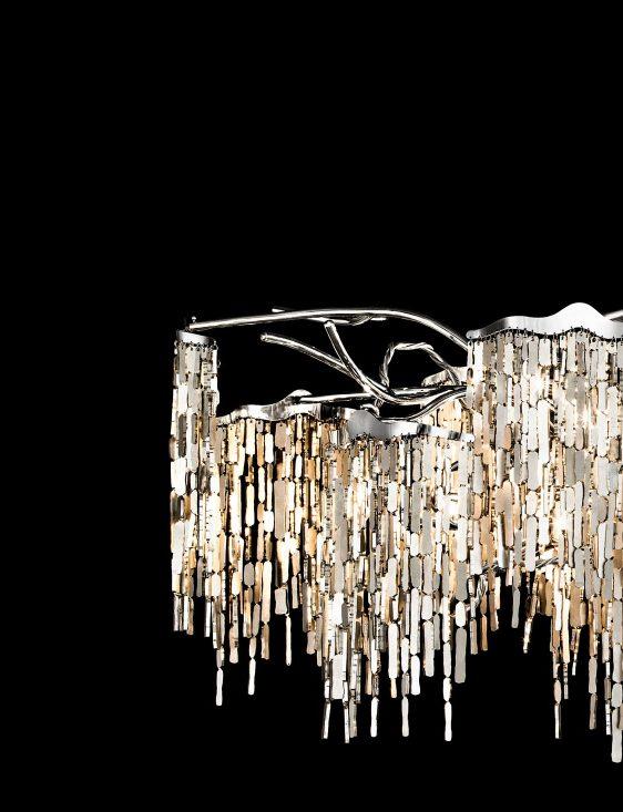 modern crystal chandelier from contemporary lighting collection by brand van egmond