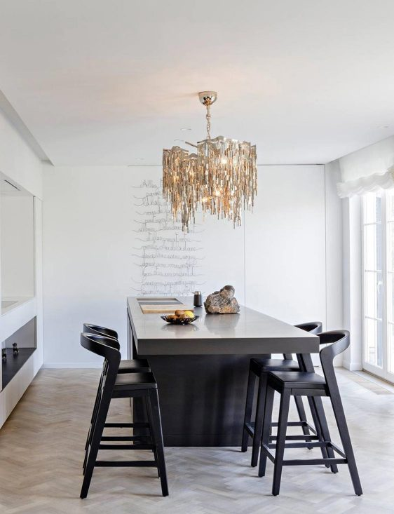 modern crystal chandelier for dining room from contemporary lighting collection by brand van egmond