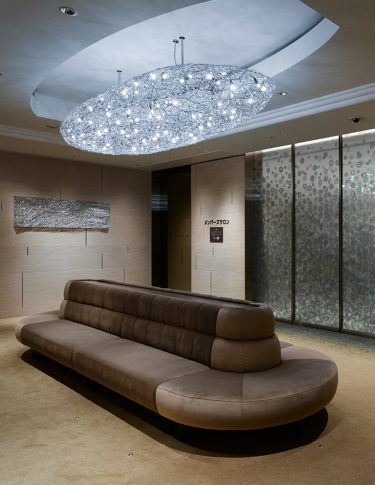 custom chandelier in bespoke design project for chopard
