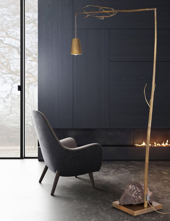 modern floor lamp from contemporry lighting collection by brand van egmond for exclusive interior designs and luxury homes