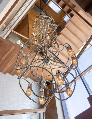 large custom chandelier bespoke lighting design exclusive luxury hotel