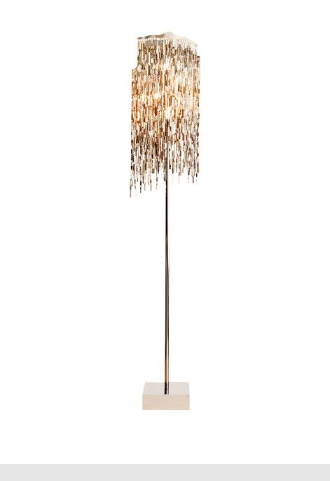 modern crystal floor lamp from contemporary lighting collection by brand van egmond