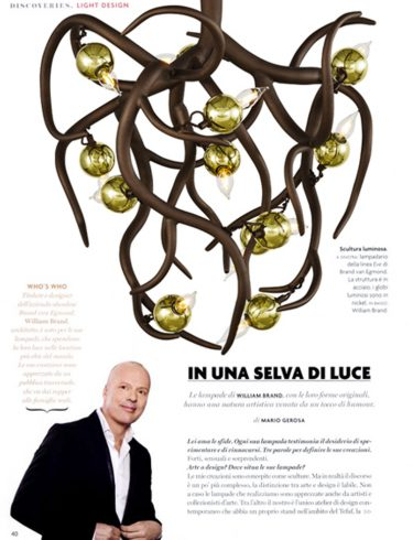 italiaans design magazine showcasing our modern chandeliers