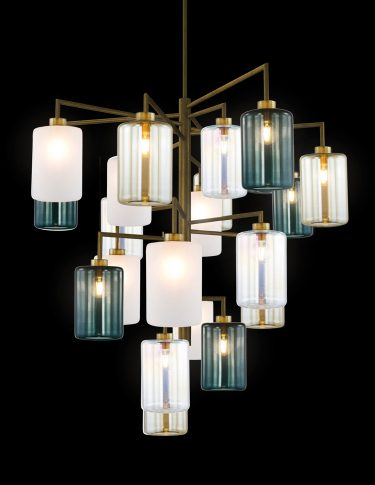 custom modern chandelier and high-end contemporary bespoke designer lighting