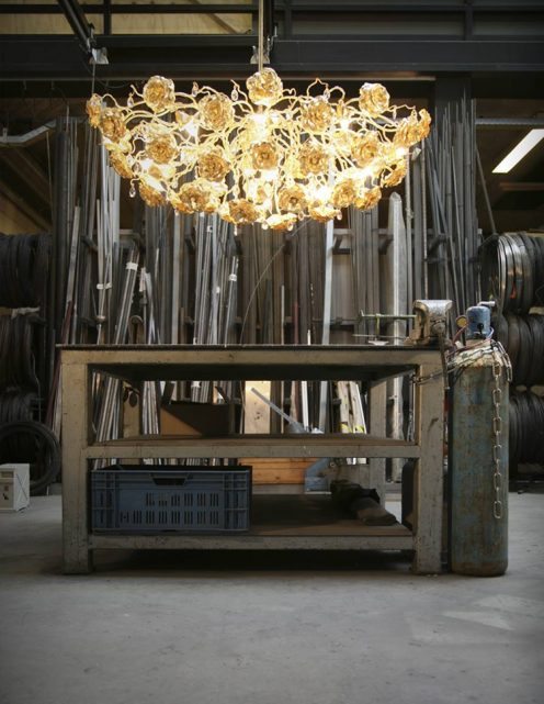 custom chandelier for bespoke lighting design craftsmanship handmade